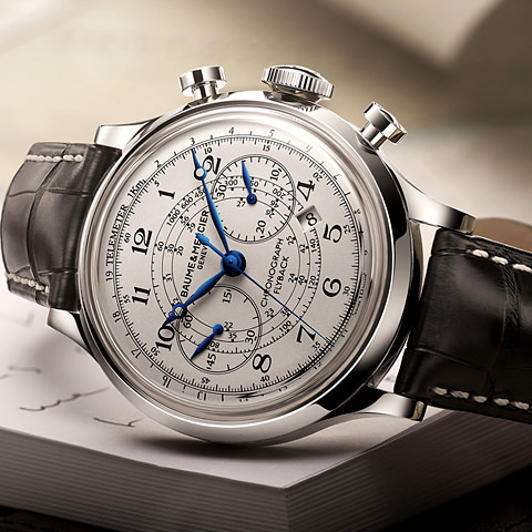 aume and Mercier Capeland Chronograph Flyback