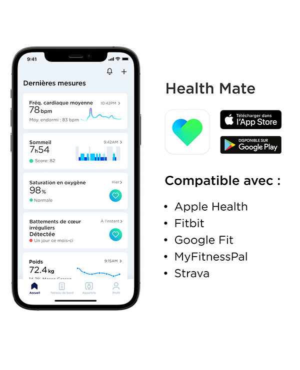 Application santé Withings Health Mate